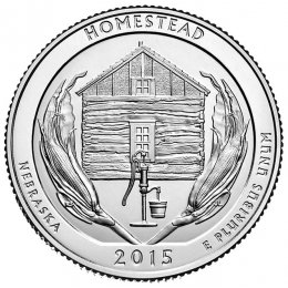 2015-P American 25-Cent National Parks: Homestead National Monument of America Brilliant Uncirculated Coin