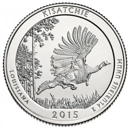 2015-P American 25-Cent National Parks: Kisatchie Brilliant Uncirculated Coin