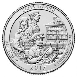 2017-P American 25-Cent National Parks: Ellis Island National Monument (Statue of Liberty) Brilliant Uncirculated Coin