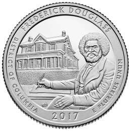 2017-P American 25-Cent National Parks: Frederick Douglass Brilliant Uncirculated Coin