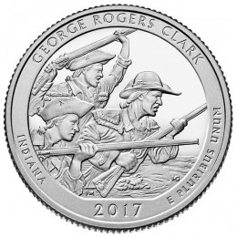 2017-P American 25-Cent National Parks: George Rogers Clark Brilliant Uncirculated Coin