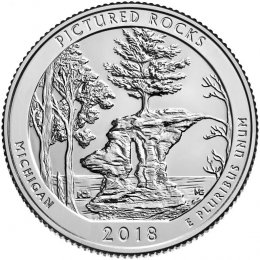 2018-P American 25-Cent National Parks: Pictured Rocks National Lakeshore Brilliant Uncirculated Coin