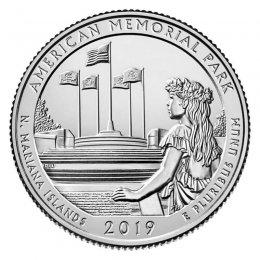 2018 P CUMBERLAND  ISLAND GEORGIA  NATIONAL PARK  QUARTER $10 BU ROLL LIVE