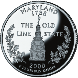 2000-P American 25-Cent State Quarter Series: Maryland Brilliant Uncirculated Coin