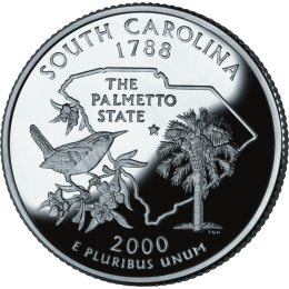 2000-P American 25-Cent State Quarter Series: South Carolina Brilliant Uncirculated Coin