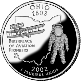 2002-P American 25-Cent State Quarter Series: Ohio Brilliant Uncirculated Coin