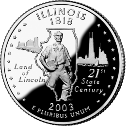 2003-P American 25-Cent State Quarter Series: Illinois Brilliant Uncirculated Coin