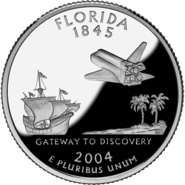 2004-P American 25-Cent State Quarter Series: Florida Brilliant Uncirculated Coin