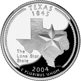 2004-P American 25-Cent State Quarter Series: Texas Brilliant Uncirculated Coin