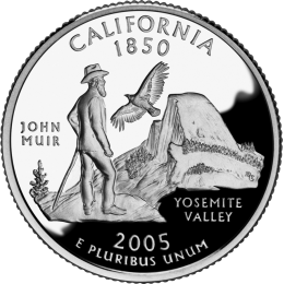 2005-P American 25-Cent State Quarter Series: California Brilliant Uncirculated Coin