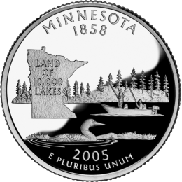 2005-P American 25-Cent State Quarter Series: Minnesota Brilliant Uncirculated Coin