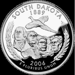 2006-P American 25-Cent State Quarter Series: South Dakota Brilliant Uncirculated Coin