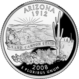 2008-P American 25-Cent State Quarter Series: Arizona Brilliant Uncirculated Coin