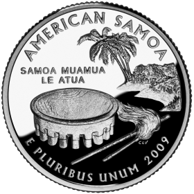 2009-D American 25-Cent State Quarter Series: American Samoa Territory Brilliant Uncirculated Coin