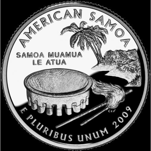 2009-P American 25-Cent State Quarter Series: American Samoa Territory Brilliant Uncirculated Coin