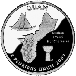 2009-P American 25-Cent State Quarter Series: Guam Territory Brilliant Uncirculated Coin