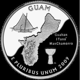 2009-D American 25-Cent State Quarter Series: Guam Territory Brilliant Uncirculated Coin