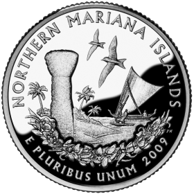 2009-D American 25-Cent State Quarter Series: Northern Mariana Islands Territory Brilliant Uncirculated Coin