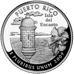 2009-P American 25-Cent State Quarter Series: Puerto Rico Territory Brilliant Uncirculated Coin