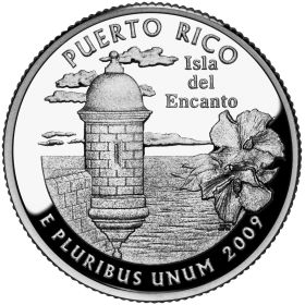 2009-D American 25-Cent State Quarter Series: Puerto Rico Territory Brilliant Uncirculated Coin