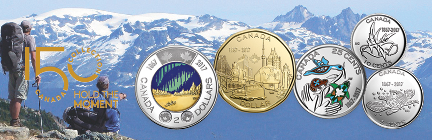 Coins, Sets Celebrating Canada's 150th Anniversary Collection from Royal Canadian Mint