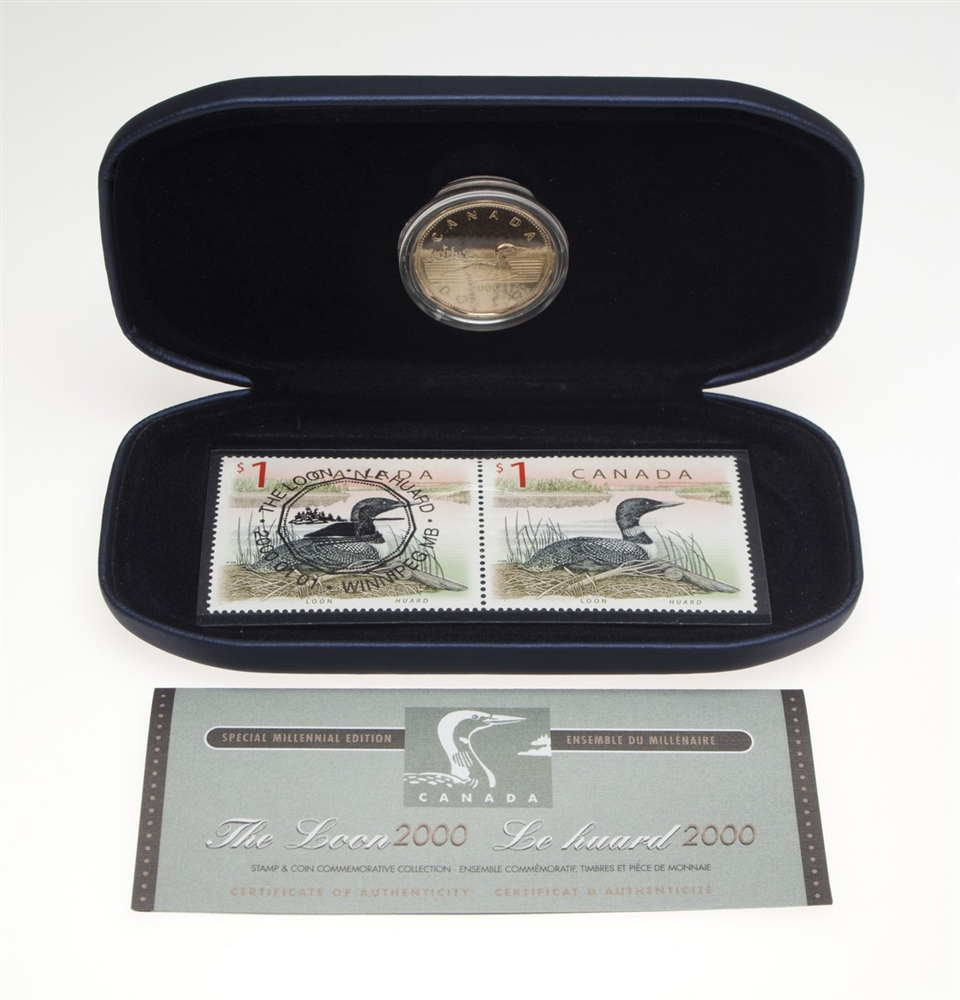 2000 Stamp Amp Coin Set Loon